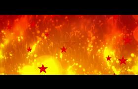 党政视频素材_创意金色视觉效果五角星循环上浮金色动态粒子漂浮消散建党节视频素材