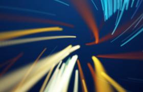 蓝色背景炫彩光线空间感变幻mov唯美科技背景视频