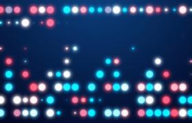 彩色圆形灯光矩阵排列循环闪现MOV精彩舞台背景视频