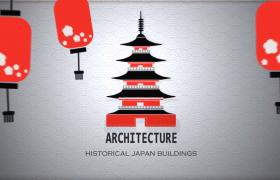 日式樱花传统日和习俗卡通儿童手绘漫画片头AE模板展示