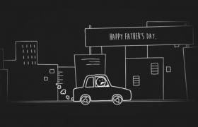 简笔手绘动态故事父亲节浓浓爱意表达图文宣传ae动画模板