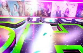 火焰彩带炫彩霓虹光效展示的3D标志ae栏目包装片头