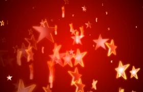 红色党政视频素材-三维空间五角星悬浮上升循环动态建军建党节短视频素材
