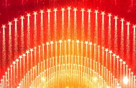 党政视频素材-创意五角星弧形粒子拖尾扩散震撼大气的建军建党节晚会活动开幕式舞台背景视频素材
