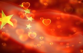 党政视频素材-五星红旗漂浮柔顺波纹动态循环国庆节视频素材
