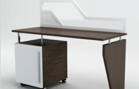 簡約木藝北歐風商務大廈辦公桌3D模型(max)