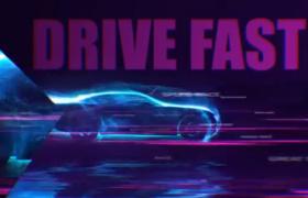 动力机车冲击感特效渲染动画logo标志开场特效AE模板