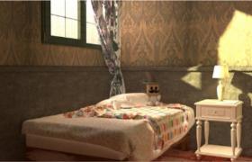暖色系唯美夏日室内装修场景C4D高品质渲染模型展示