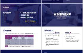 蓝色科技背景严谨公司财务制度培训课件PPT模板