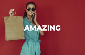 时尚模特购物现代都市modern风格商场时尚乐购宣传片AE模板