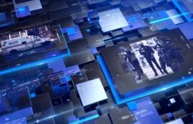 创意大气蓝色科技风电视栏目新闻栏目包装开场视频AE模板