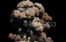 战争篇_导弹坠地爆炸逼真浓烟特效动画视频素材