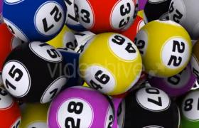 大乐透数字彩球过渡特效MOV视频素材(带通道可循环)