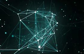 4K科技視頻素材_創意大氣綠色科技粒子空間連線展示演繹背景視頻素材