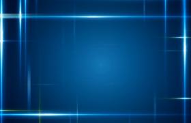 蓝色光线十字交叉展示唯美大气企业介绍短片背景视频素材