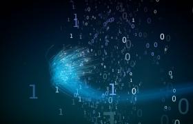 创意区块链蓝色科技梦幻唯美数字线条拖尾视频素材