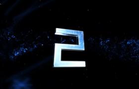 酷炫蓝色粒子环绕大气舞台演出开场短视频5秒倒计时素材