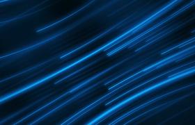 蓝色弧形线条演绎大气科技唯美背景视频素材
