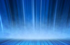 梦幻蓝色科技线条演绎唯美瀑布式流动梦幻背景视频素材