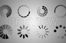 12款灰色加载进度条读取动画效果MOV视频素材