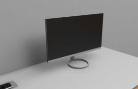 24寸高端液晶LED显示屏2K 75HZ屏幕MONITOR 3D MODEL(obj,c4d,fpx,stl,dae,3