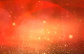 红色粒子循环上升丝带飘舞党政宣传合成视频素材