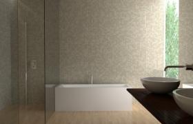 优雅舒适木艺地板家居沐浴室内C4D场景设计