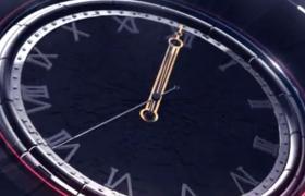 空間三維表面鐘表倒計時震撼開場動畫預設AE模板Clock Countdown Intro