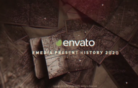 复古历史历史时间线轴图文展示时代变迁视频预设AE模板History 2020