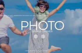 创意现代时尚图文轻松转场切换简约大气幻灯片展示预设AE模板Photo Opener