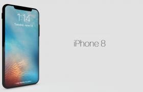 黑色玻璃外观苹果X周年纪念款手机c4d模型