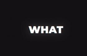 高節奏快閃4K黑白文字快速排版時尚欄目包裝片頭視頻模板ThinkAboutIt