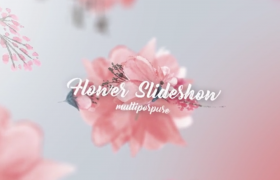 唯美創意鮮花空間創意圖形遮罩照片相冊展示包裝AE模板Flower Slideshow