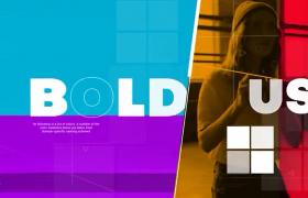 時尚浮夸漸變色彩系動感時尚圖文展示AE宣傳片模板