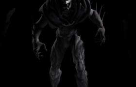 邪恶黑骑士噩梦蝙蝠侠动漫角色C4D模型