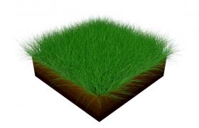 細分曲面層級土壤效果綠色grass方格草皮C4D工程預設