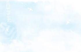 白色创意云朵动画风天空之旅标志渲染浮现开场动画AE模板Sky Journey Logo