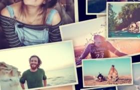 温情美好的回忆相册照片集创意展示AE视频模板Memories In Frames