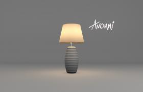 高品質歐式風格簡約室內藝術臺燈Cinema4D模型下載