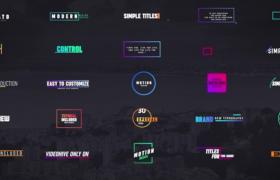 现代科技风彩色线条标题字幕包装30例预设AE模板Colorful Modern Titles