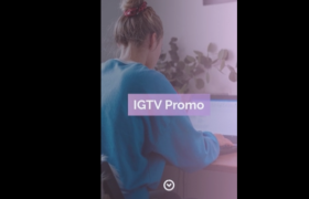 豎屏尺寸創意圖文展示商業宣傳日常vlog記錄短片視頻AE模板IGTV — Stylish Promo