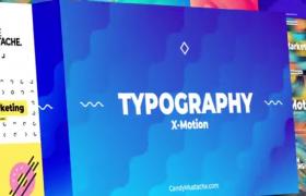 优雅的抽象彩色背景文字字幕标题排版动画预设AE模板X-Motion - Typography