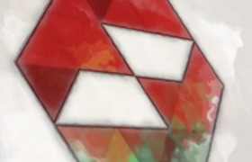 优雅的水彩纹理逐步勾勒标志缓慢呈现标志演绎动画AE模板Watercolor Logo