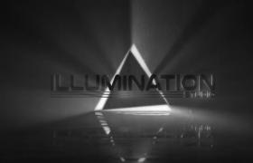 闪光霓虹效果灯光光芒闪烁标志浮现开场片头动画模板Illumination Logo