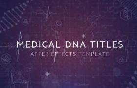 数字科技未来风医学DNA标题动画文字开场序列AE模板DNA Medical Trailer