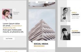 简洁时尚Ins风格手机屏幕动画设计预设AE模板Social Media Instagram Stories