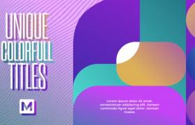 创意时尚潮流图文内容标题字幕排版预设AE模板Modern Typography