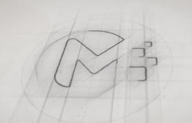 铅笔画线条描绘勾勒标志创意logo展示片头AE视频模板Pencil Sketch Logo