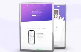 三维空间平板电脑APP应用展示程序宣传网页宣传AE模板Tablet App Promo