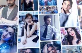 圖文預告片演示照片拼接組合宣傳動畫AE片頭模板(含視頻教程)